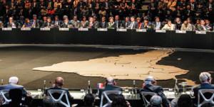 Durante la sesión de clausura Bruselas fue elegida como sede en 2015 de la segunda cumbre de la Comunidad de Estados Foto: AP