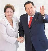 En junio del 2011 Dilma recibió a Chávez en el Palacio del Planalto