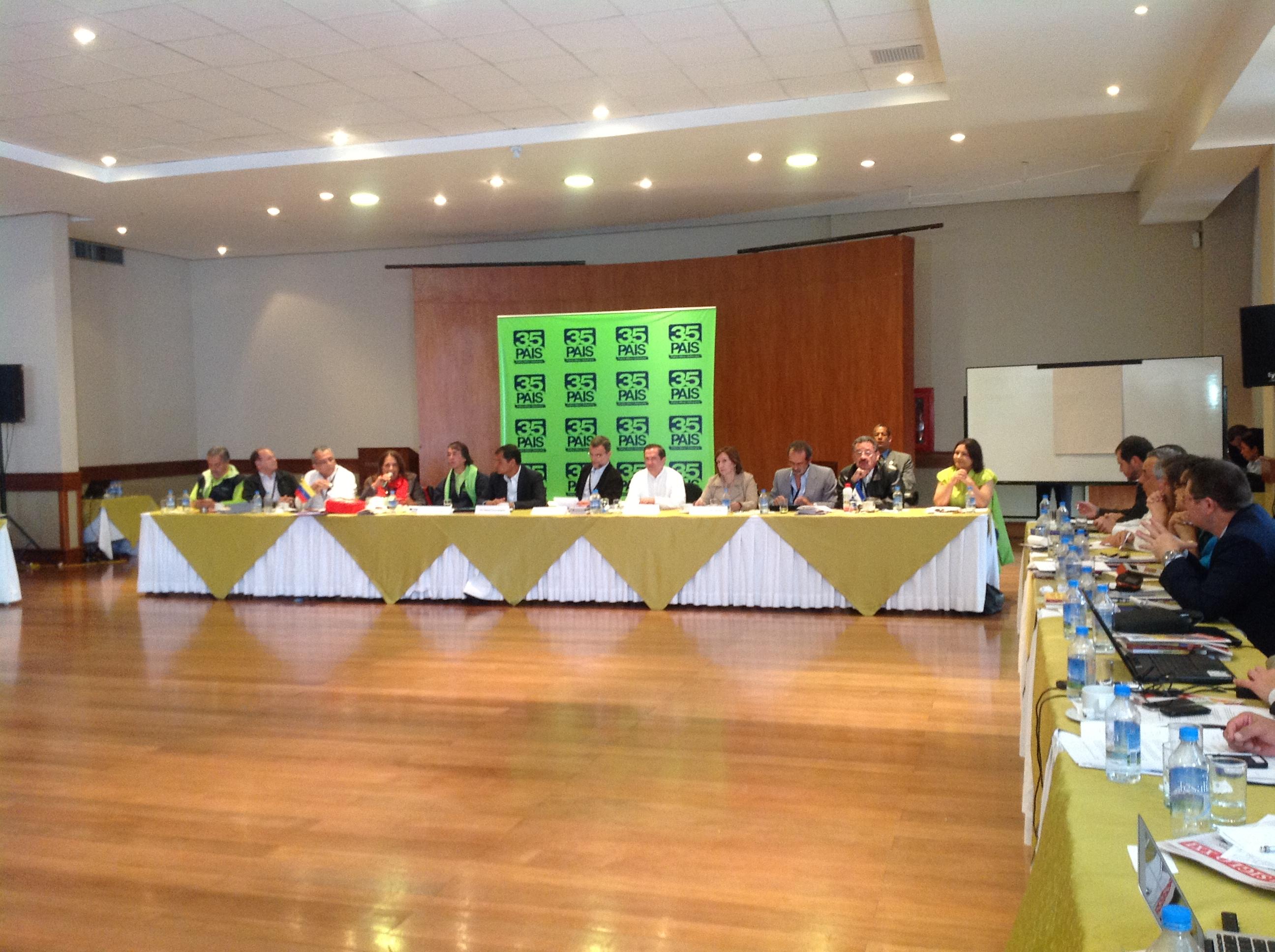Reunião Grupo de trabajo Foro Sao Paulo, Quito. 17 enero 2013