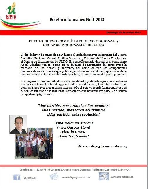 Boletin informativo Eleccion nuevo CEN 3 Mar 2013