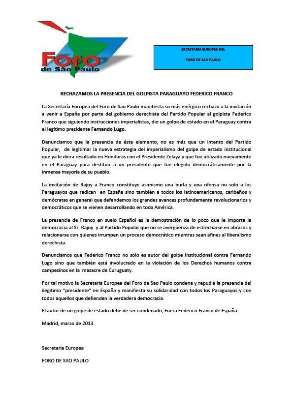 informe secretaria europea - FSP