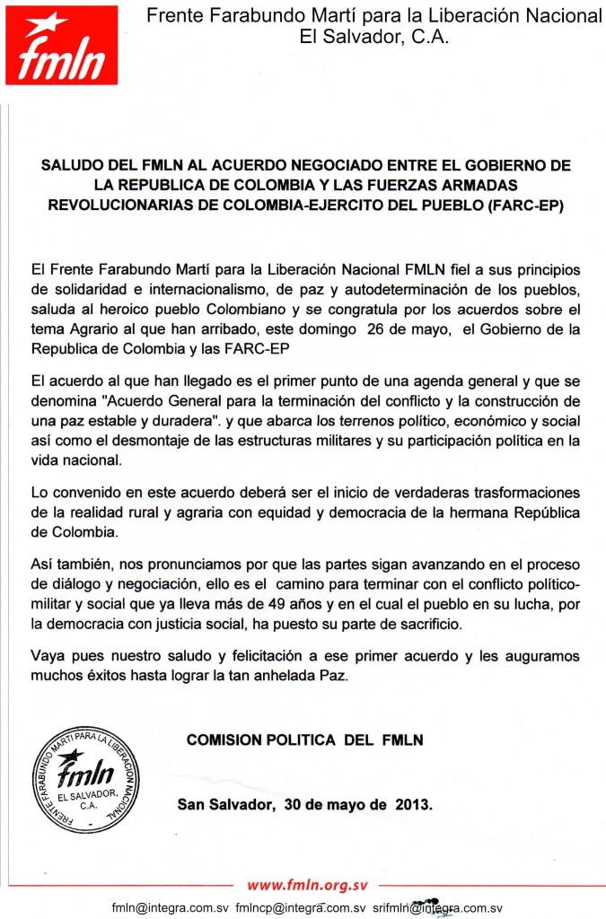 COMUNICADO Paz Colombia