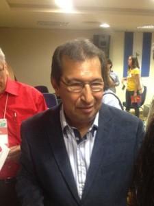 Adán Chavez, irmão do ex-presidente da Venezuela Hugo Chavez, no 19º Encontro do Foro São Paulo. (Foto: Helton Simões Gomes/G1)