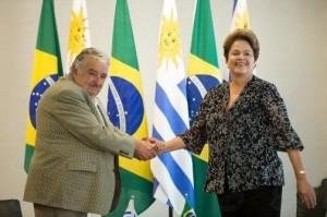 Dilma e Mujica, em Brasília