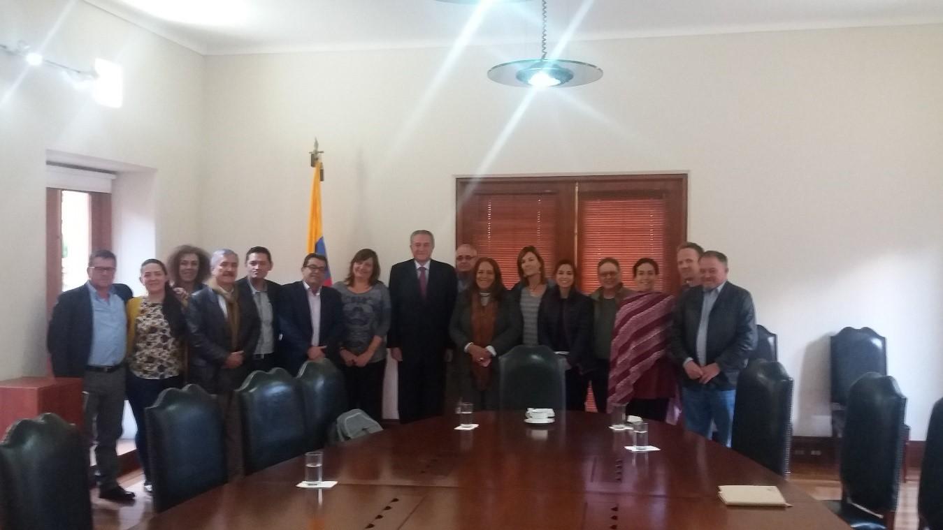 Reunión con el Vicepresidente colombiano Óscar Naranjo