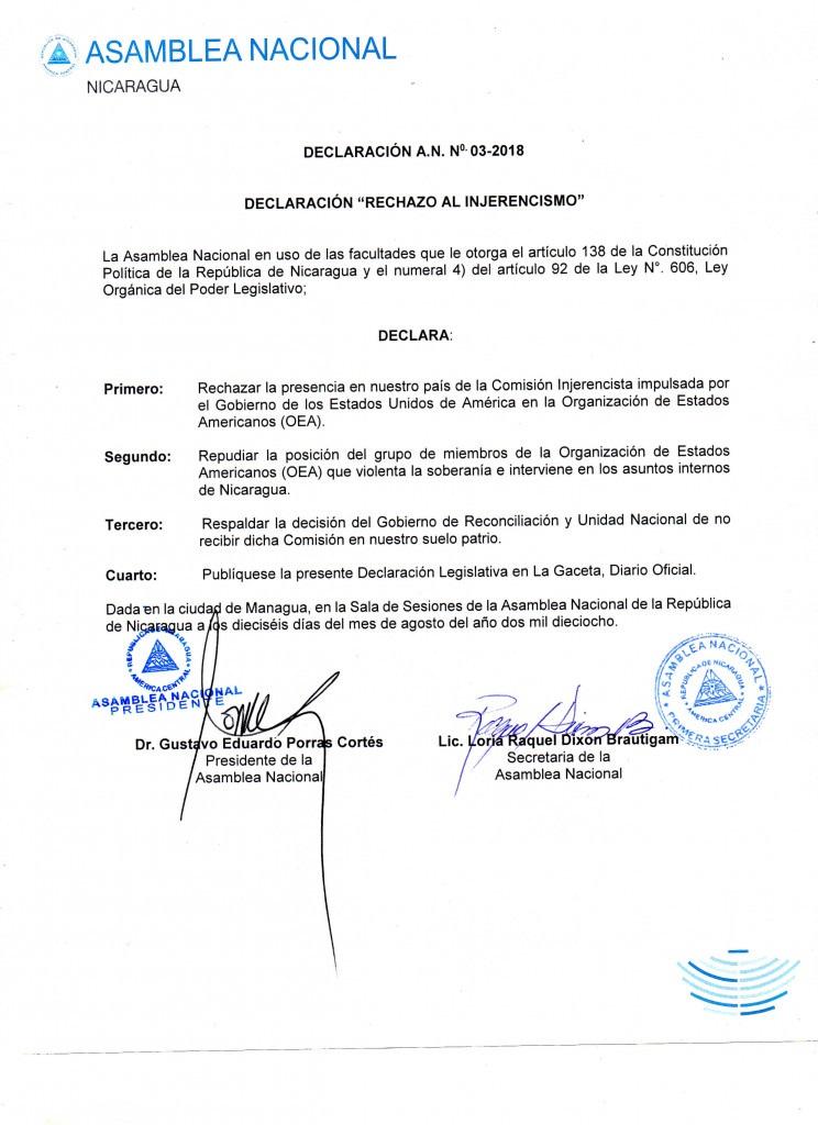 Declaracion-A.N-N-2018 NICARAGUA